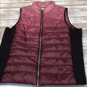 NWT ombré Christopher & Banks vest sz XL